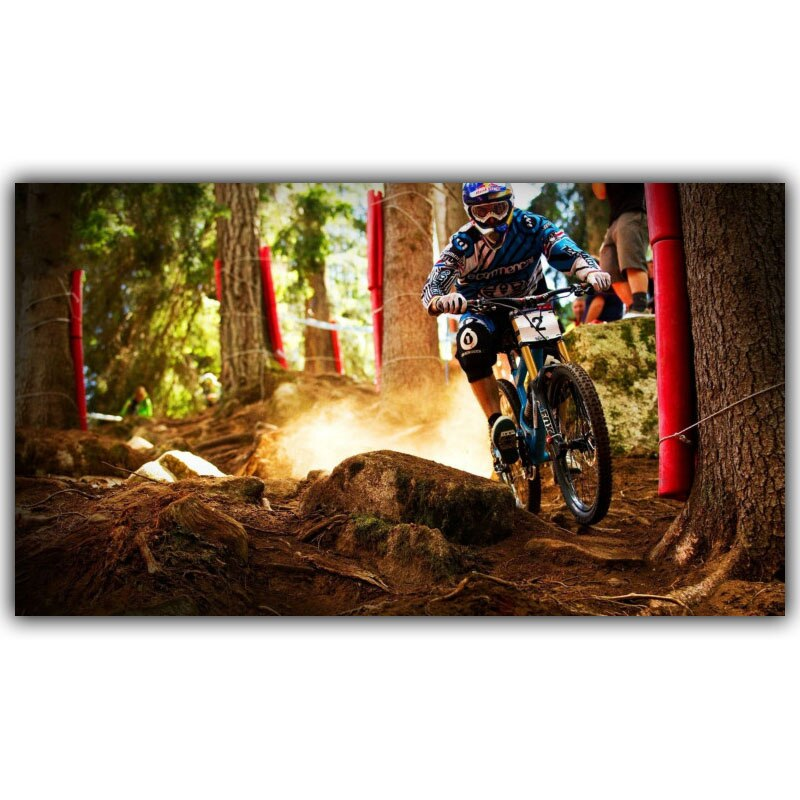 Mountain Motorcycle Mountain Bike Competition Poster