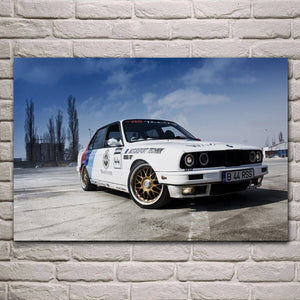 BMW Rally sports car tuning supercar poster