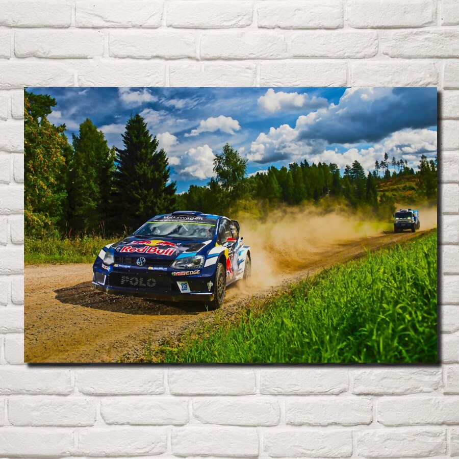 Car off Road rally Race Car Rallying sports living room decor home wall art decor wood frame fabric posters KG134