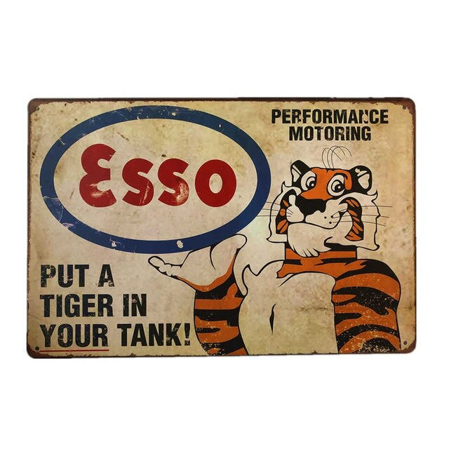 Vintage Nostalgic Metal Tin Sign For Garage/Motoring Fan