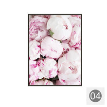 Load image into Gallery viewer, Pink Peony Flower Canvas Painting Wall Art