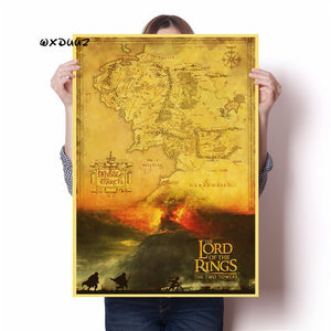 Lord of the Rings old retro poster hight quality canvas painting