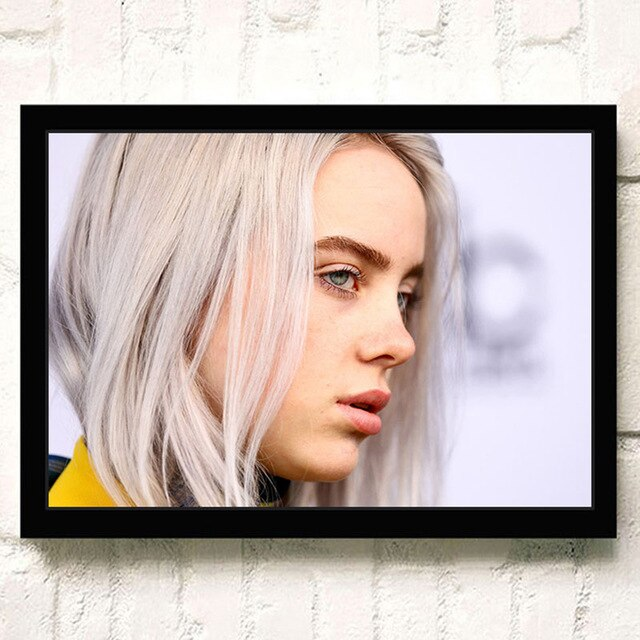 American Singer Billie Eilish Poster HD Printed Wall Art Painting