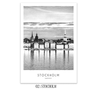 Modern Places Wall art Landscape Posters and Prints Black And White