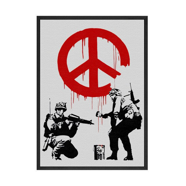 Banksy Graffiti CANVAS Art Prints