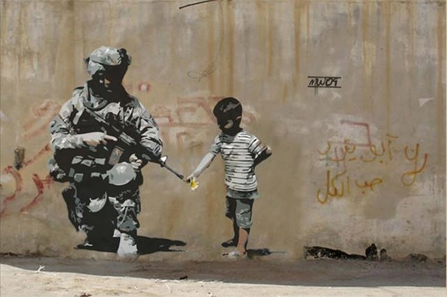 Banksy Poster Graffiti Pop Wall Art Canvas Painting Posters Prints