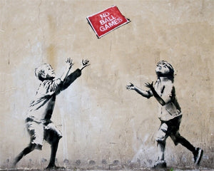 Classic Graffiti By Banksy Art Canvas Painting & Calligraphy