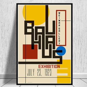 Posters and Prints Bauhaus 1923 Weimer Exhibition Poster