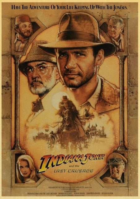 Vintage Classic Movie Indiana Jones Poster