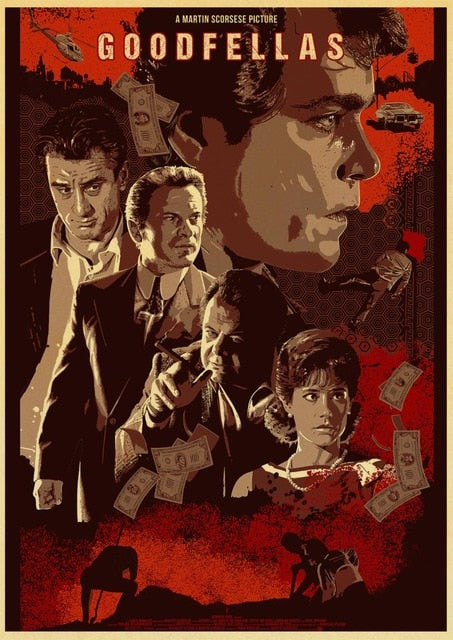 Movie Poster Goodfellas Retro Poster Prints