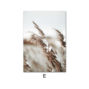 Reed Grass Sea Landscape Poster Canvas Print Nature Scenery Wall Art