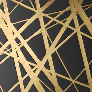 Canvas Painting Abstract Gold Black Square Texture Posters And Prints Wall Art