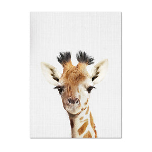 Animal Canvas Poster Nursery Wall Art Prints