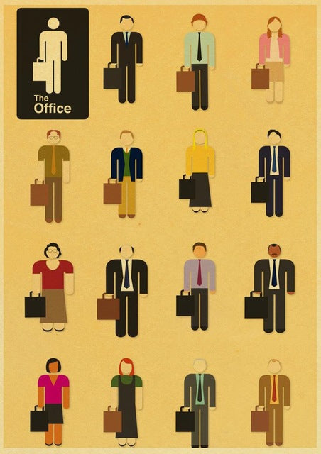 Newly American TV Series The Office Retro Poster kraft paper Vintage Poster Prints