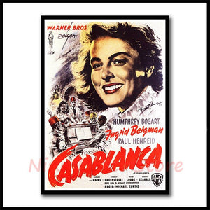 Hollywood classic love Film Casablanca Coated paper Posters