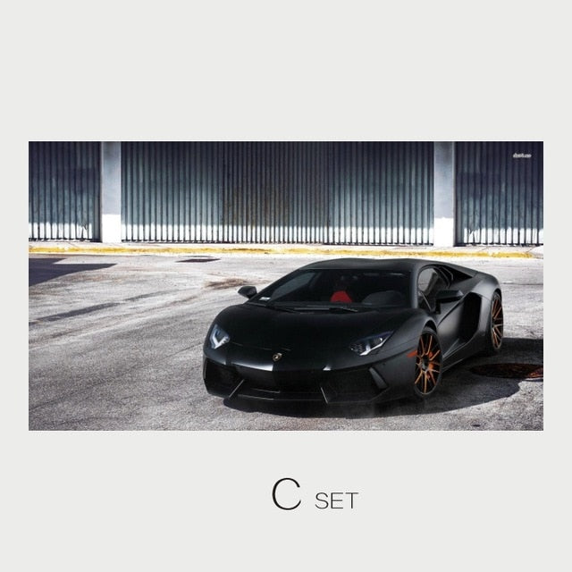 Canvas Lamborghini art poster