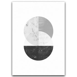 Minimalist Style Marble Geometric Pattern Abstract Decorative Canvas