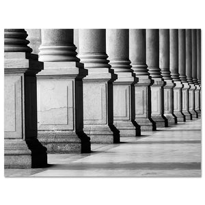 Nordic Poster Black And White Building Canvas