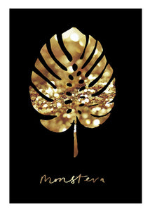 Gold Abstract Leaf Poster
