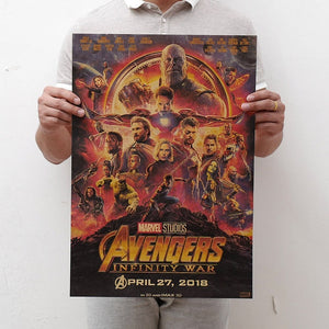 1PC 51.5x36cm Movie Marvel Series Poster Avengers Infinity War Retro Poster