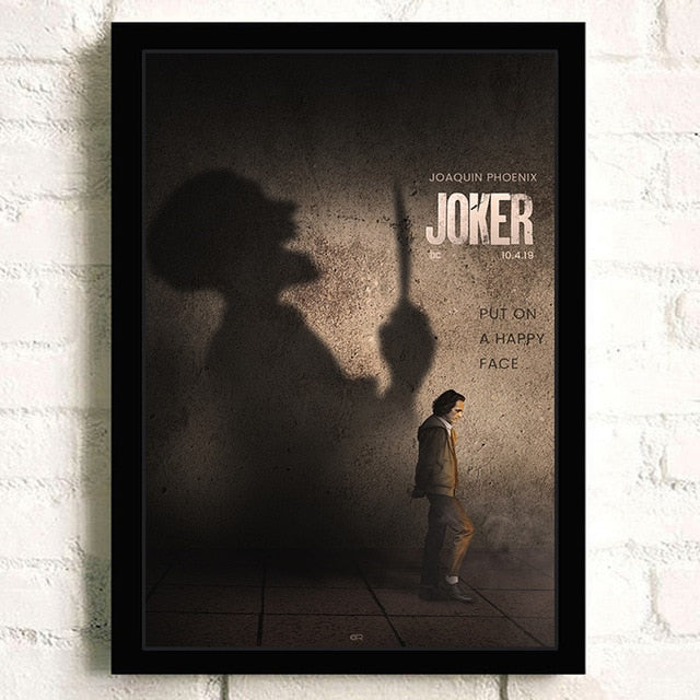 Joker Joaquin Phoenix  DC Movie Comics Wall Art Painting Print On Canvas