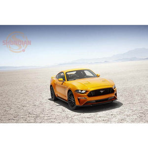 Ford Mustang Poster Custom Satin Poster Print Cloth Fabric Wall Poster