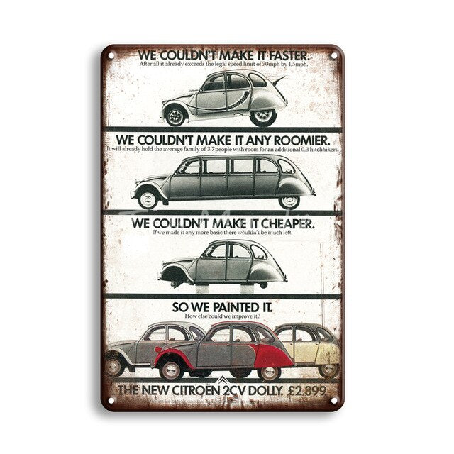 Metal Poster Tin Sign Vintage Garage Home Decor