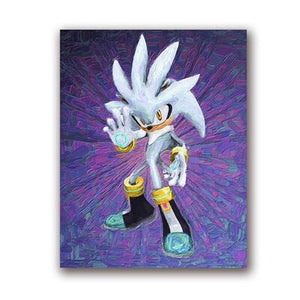 Sonic the Hedgehog Art Sonic Oil Painting Posters Canvas Prints