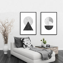 Load image into Gallery viewer, Minimalist Style Marble Geometric Pattern Abstract Decorative Canvas