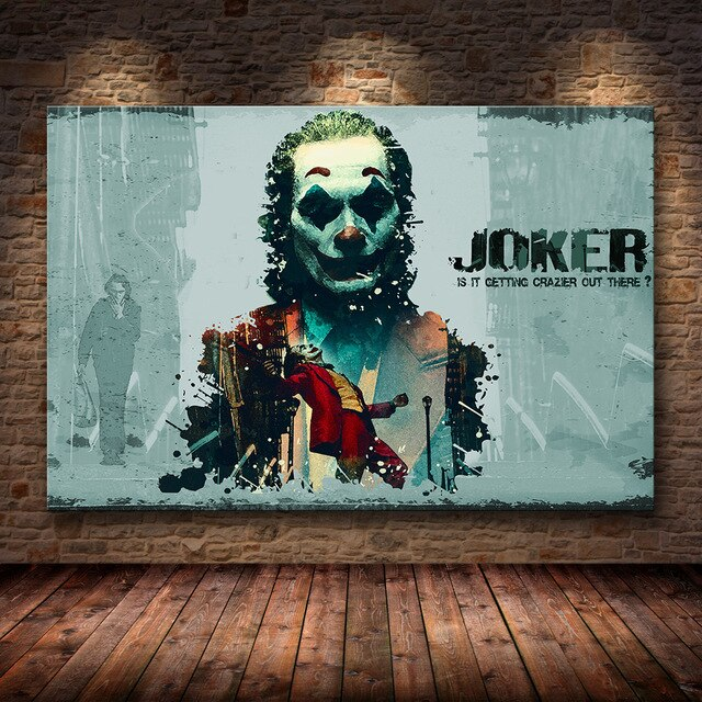 Joaquin Phoenix Poster Prints Joker Poster Movie Art Canvas