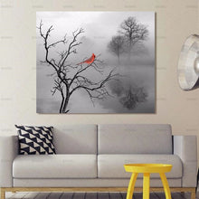 Load image into Gallery viewer, Canvas Painting Picture Wall Art  Abstract Tree Poster Bird Art On Canvas