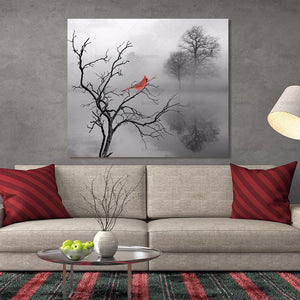 Canvas Painting Picture Wall Art  Abstract Tree Poster Bird Art On Canvas