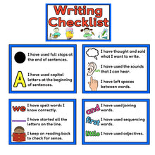 Load image into Gallery viewer, 5Pcs English Writing Checklist Writing Skills A4 Flash Cards