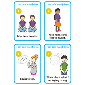 4Pcs Kids Games - How To Management Emotional Poster Card