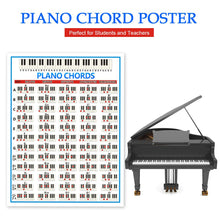 Load image into Gallery viewer, Piano Practice Sticker 88 Key Beginner Piano Chord Chart Poster