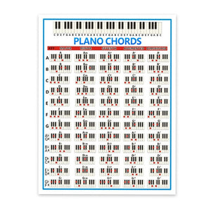 Piano Practice Sticker 88 Key Beginner Piano Chord Chart Poster