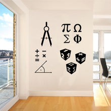 Load image into Gallery viewer, Mathematics Mural Symbol Wall Decal Sticker