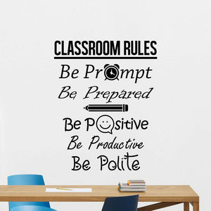 Creative Classroom Rules Wall Decal Stickers