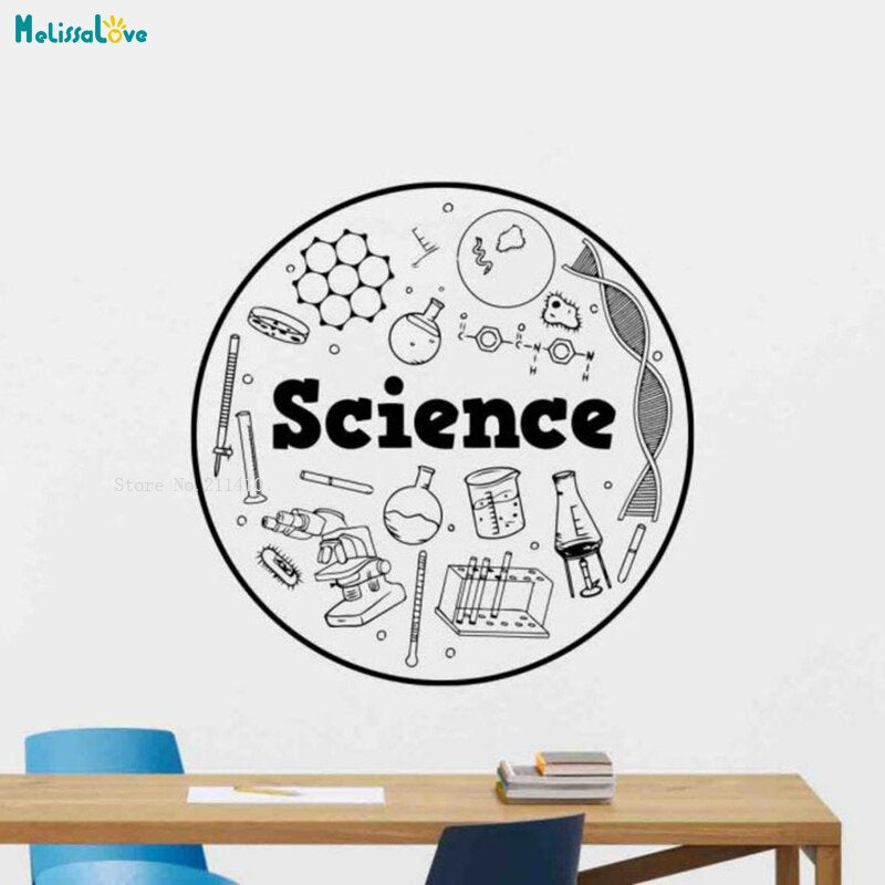 Science Wall Decal Classroom Sign Vinyl Sticker