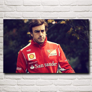 Fernando Alonso Of Spain F1 World Championship Poster 12x19 15x24 19x30 22x35 Inch