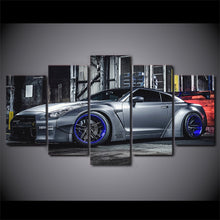 Load image into Gallery viewer, Modern 5 Pcs Canvas Art Nissan Sports Car HD Printed Wall Art