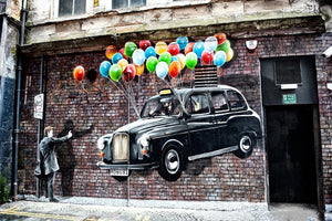3D Canvas Painting BANKSY Dreams Posters and Prints Graffiti Street Art