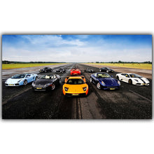 Load image into Gallery viewer, Sports Car Poster 30x53cm 50x89cm Silk Cloth Fabric Print