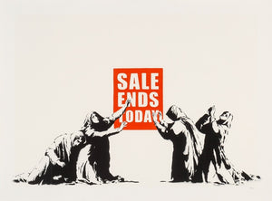 Wall Painting print on canvas for living room home decor Banksy Art Sale ends Today