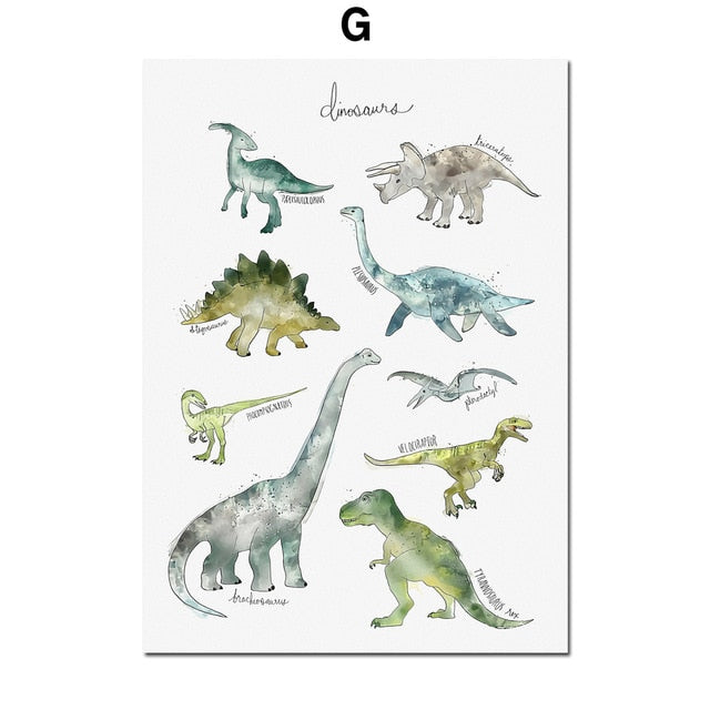 Animal Wall Art Canvas Painting Posters And Prints Baby Kids Room Decor