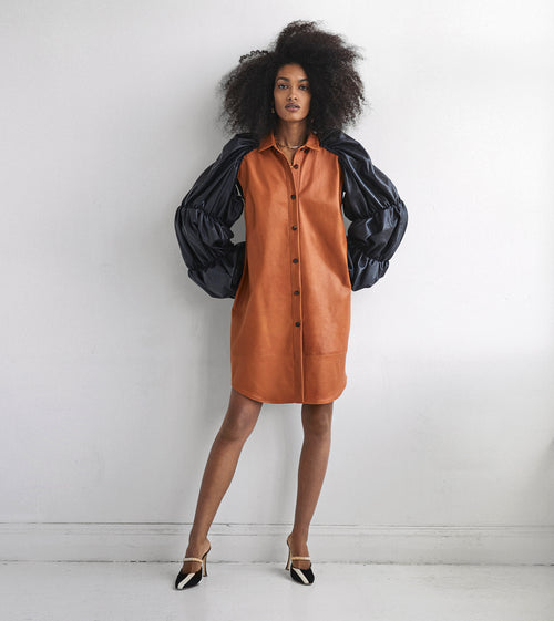 St. Andrew leather shirt dress