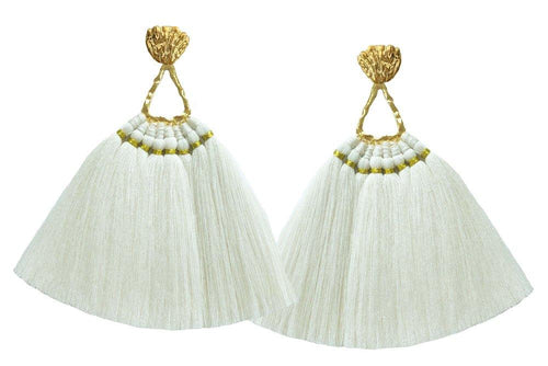 Beige Machu Pichu Earrings - JETLAGMODE