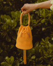 Load image into Gallery viewer, Yellow Mini Crochet Party Bag - JETLAGMODE