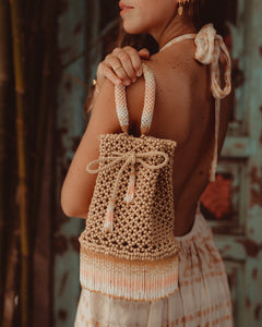 Peach Waterfall Handbag - JETLAGMODE