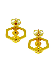 Mushroom Hexagonal Earrings - JETLAGMODE